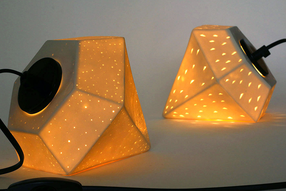 Ceramic-dimond-lamp
