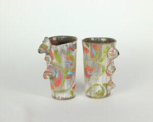 זוג כוסות קרמיקה