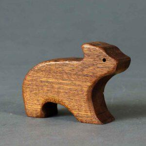 גור דובים צעצוע מעץ מלא